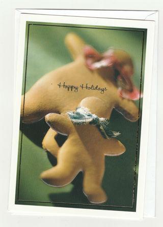 Christmas Card Unused With Envelope Gingerbread