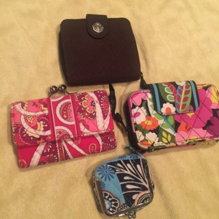 Vera Bradley Bundle Wallet Change Purse CUTE