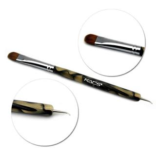 100% Kolinsky Sable French Brush 2 way Acrylic UV Gel Nail Art Builder Brush Pen Set nail art brus