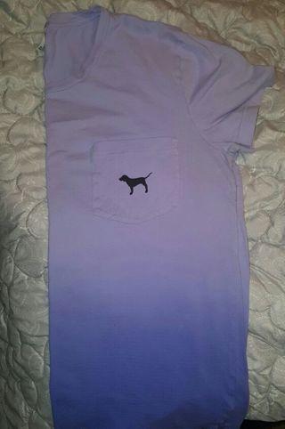 Victoria Secret Purple Ombre Fade Tshirt Size Medium