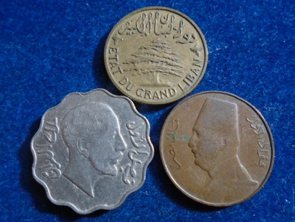 1933 1936 & 1932-H OLD MIDDLE EAST COINS...FULL DATES!