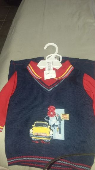 New baby boy outfit 3 pieces by little me size 9m