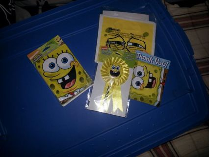 Spongebob square pants birthday supplies