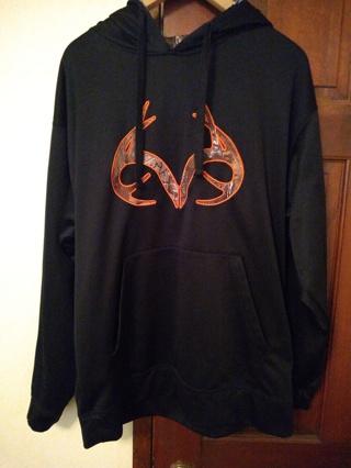 Realtree hoodie sweatshirt Buckhorn river Sz L camo shirt hooded free shipping