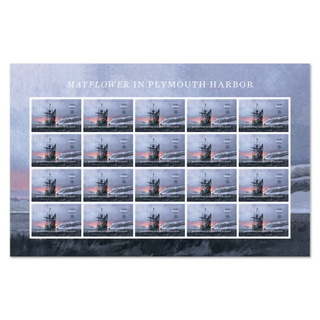 The Mayflower in Plymouth Harbor Forever Stamps