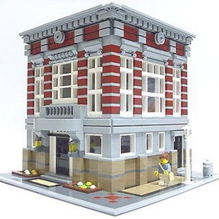 Free Lego City Bank 10197 Alternate Model Building Instruction