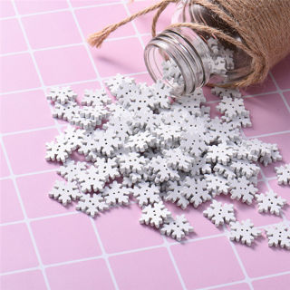 [GIN FOR FREE SHIPPING] 50PCs Christmas Snowflake Wood Buttons Sewing