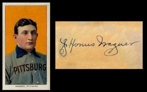1909 T206 Honus Wagner Reprint with Facsimile Auto on Back ... FREE SHIPPING