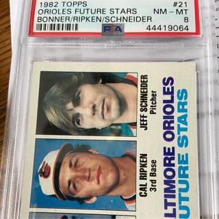 1982 Topps Cal Ripken Rookie #21. PSA 8