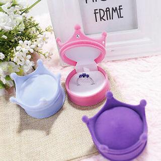 Engagement Cute Elegant Velvet Ring Box Pendant Locket Earring Shell Jewellery