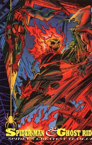 1994 Spider-Man: Collectible/Trade Card: Spider-Man & Ghost Rider
