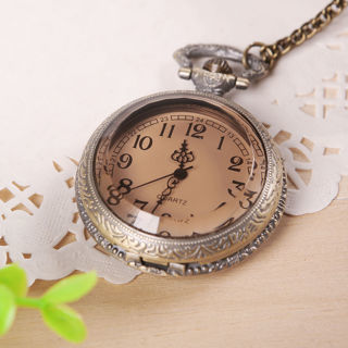 [GIN FOR FREE SHIPPING] Retro Vintage Plain Sailing Style Bronze Tone Pocket Watch