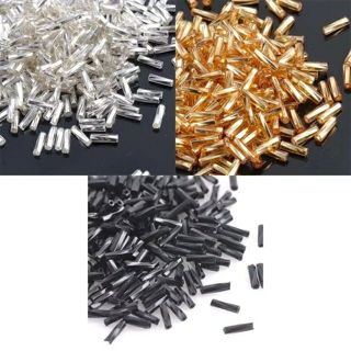 3 Color 6x2mm 500pcs Crystal Glass Spacer Beads, SILVER LINED Gold Silver Czech Seed Beads