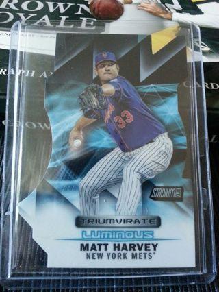 2016 Topps Stadium Club Triumvirate Luminous #T-4C Matt Harvey New York Mets