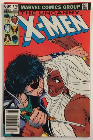 The Uncanny X-Men #170 - Mystique, Rogue, Mastermind Appearance - VF+ 8.5 WP Marvel Comics 1983