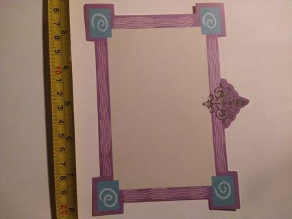 Retro Purple Paper Frame