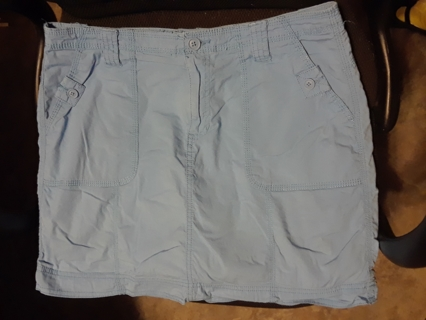 "Ladies Blue Skort by ""St. John's Bay"".  Size 12."