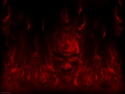 Dark Flame Skull Wallpaper