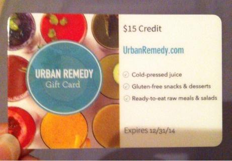 Urban remedy $15 giftcard