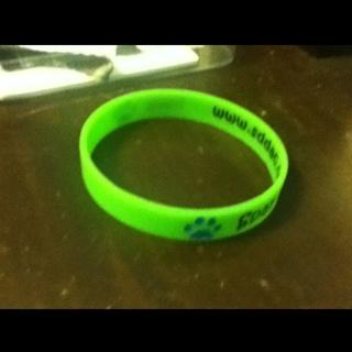 Green Rubber Bracelet Free Shipping
