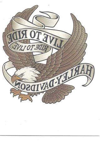Free Harley Davidson Temporary Tattoo Live To Ride Other Listia