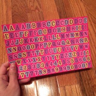 Brand new letter sheet