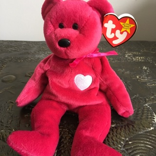 Valentina BEANIE BABY ❤️ W/TAG ERRORS! |  You Also Get A DISPLAY CASE!! ⭐️