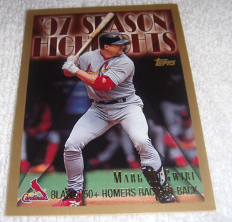 Free Topps 1998 Gold Border Mark Mcgwire 97 Highlights