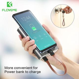 FLOVEME Key Chain Micro Usb Cable Fast Charge Usb Data Cable Microusb Usb Charging Cord Short For