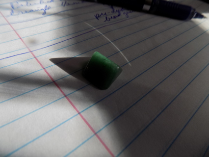 Polishied green adventurine gemstone # 02 pre drilled