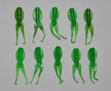 "10 Green 2"" PADDLE BUGS Fishing"