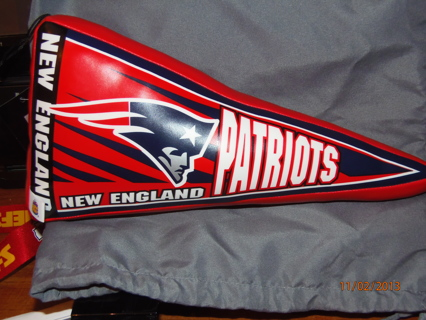 NFL New England Patriots Pennant Pillow