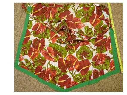 """1 Ladies Vintage """"Leaf Motive"""" apron handmade"""