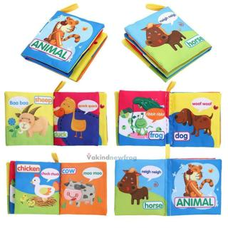 Kids Baby Intelligence Development Cloth Learn Cognize Book Educational Toy V