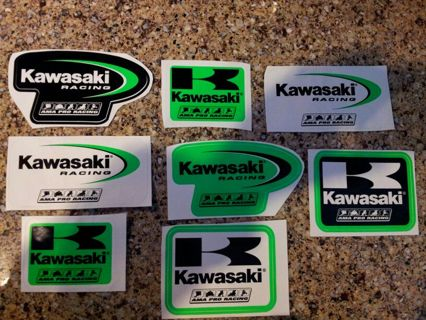 Free LOT OF KAWASAKI MOTORCYCLE STICKERS PRO RACING Plus - Kawasaki motorcycles stickers