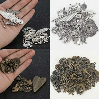Lots Vintage 50g/pack Jewelry Making Mixed Charms Pendants Random DIY Crafts