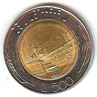 Italy 500 Lire World Coin AU