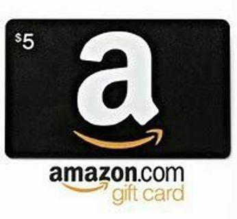 5$ Amazon E-gift card