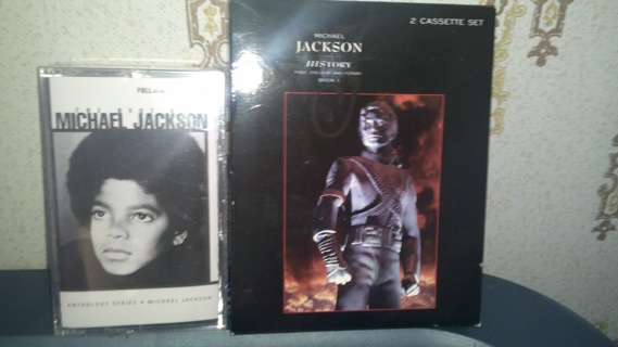 USE GIN ITEM SHIPS FOR FREE'  2 DIFFERENT SETS OF  Michael JACKSON CASSETTE TAPES NEW