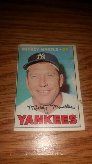1967 Topps Baseball Mickey Mantle #150 New York Yankees,G/VG condition,free shipping!