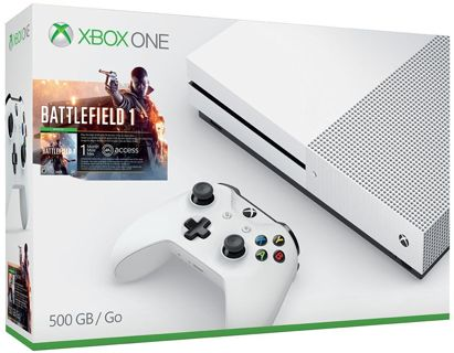 NEW! Microsoft, Xbox One S 500GB Battlefield1 Console Bundle, White FREE SHIP!