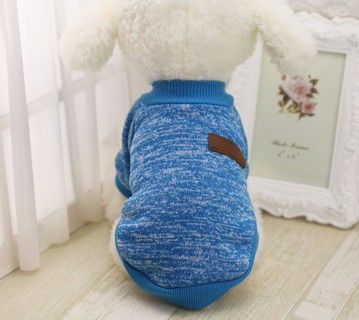 Classic Pet Dog Clothes Winter Thick Jacket Warm Coat Pure Design Cute Sweater #5