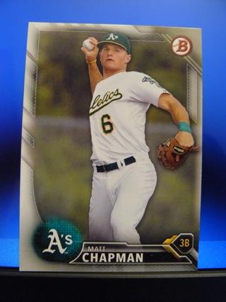 2016 Bowman Prospects #BP147 Matt Chapman (Oakland A's) Pre-Rookie