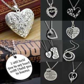 Fashion Heart Jewelry For Mom Dad Grandma Family Members Charm Pendant Necklace