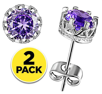 (2-Pack) 3Carat Gorgeous simulated Diamond Earrings with .925 sterling silver 2pairs FREE SHIPPING