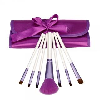 free 7pcs professional cosmetic makeup brush set purple