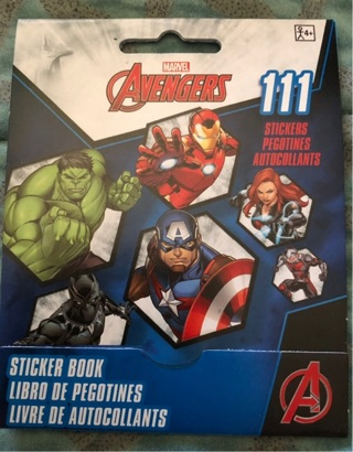 "BN ""Marvel's: The AVENGERS"" 111 Stickers In 9 Paged, 5"" x 4"" Book. Three Day Auction"