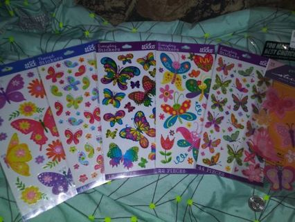 Sticko butterfly 6 beautiful sticker packs Lowest gins always! No refunds! No lower! Selling out!