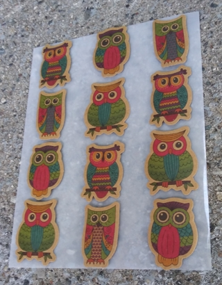OWL CARDBOARD STICKERS