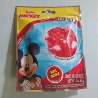 MICKEY MOUSE Disney Junior Kids Bath Bomb Fizzie Berry Scented NEW - Free Shipping